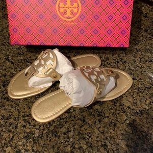 Tory Burch Shoes - Tory Burch sandal gold size 9